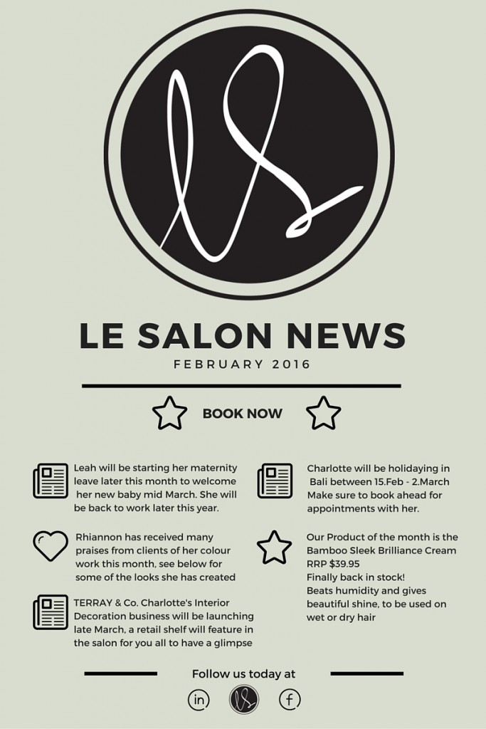 LE SALON NEWS LETTER